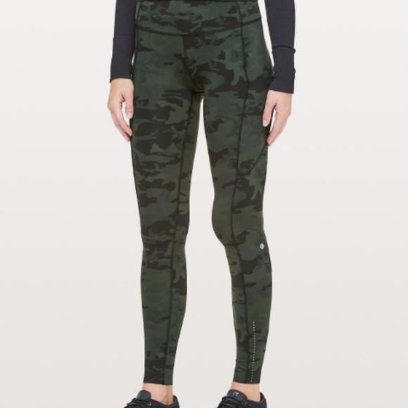 Lululemon Athletica Pants Jumpsuits Sold Lululemon Fast And Free Camo Leggings Poshmark